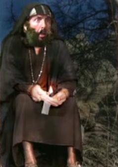 Moisés concentrado poco antes de recibir el mensaje divino